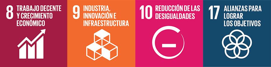Imagen de iconos desarrollo sostenible.